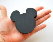 Mickey Mouse die cut (2.5 INCHES) in black or Choose a Color MariaPalito A383