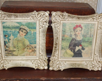 French Picture Pair  Ornate Frames _ Sale