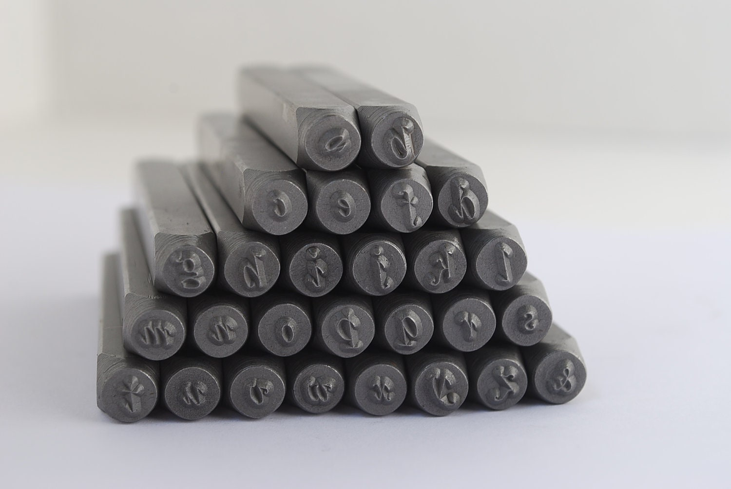 Metal Stamp Set By Steel Stamps Lowercase Stylish Italic