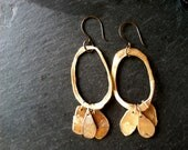 Organic Dangle Hoop Earrings