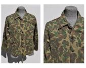 vintage camo field jacket coat camoflauge 13 star field