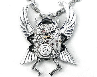 Steampunk Scarab Necklace