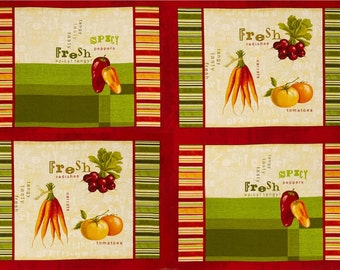 A Wonderful Fresh and Tasty Placemats Fabric Panel Free US Shipping