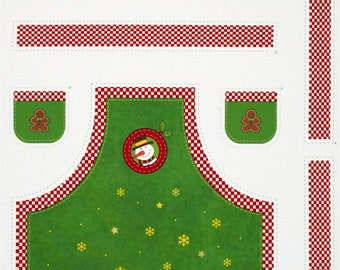 A Wonderful Country Christmas Holiday Apron Fabric Panel Free US Shipping