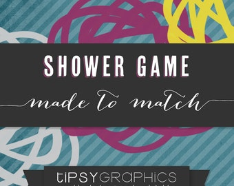 Baby / Bridal Shower Game. Printable ADD ON. Made to Match any Tipsy Graphics Design