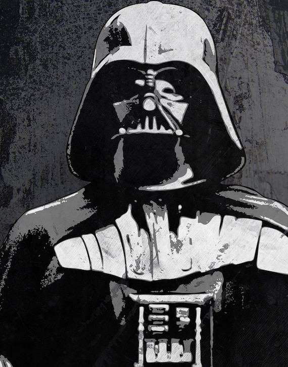 Items Similar To Darth Vader Star Wars Pop Art Print 11 X