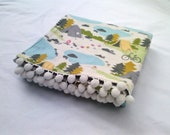 Kids Blanket Camping Theme Baby Receiving Blanket - BooBahBlue