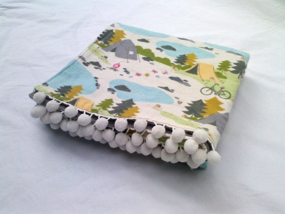 Kids Blanket Camping Theme Baby Receiving Blanket