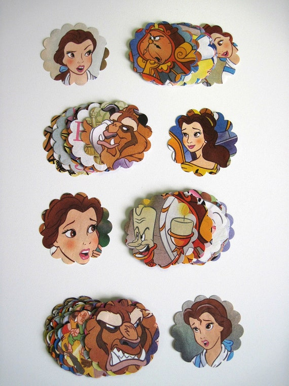 BEAUTY and the BEAST - Disney Recycled Paper Punches or CONFETTI - Over 55