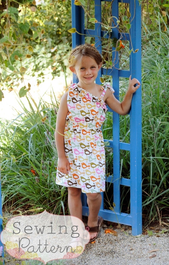 INSTANT DOWNLOAD- Stella Dress (Size 12/18 to Size 8) PDF Sewing Pattern and Tutorial