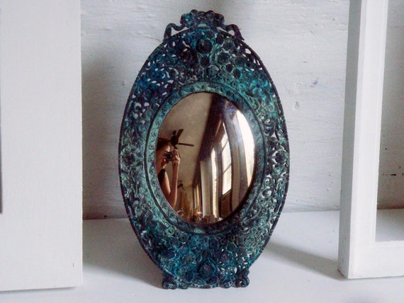 Vintage Convex Egg Mirror