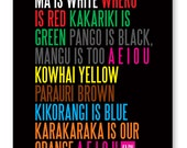 Ma is White print - a New Zealand classic - Large size by Erupt Prints