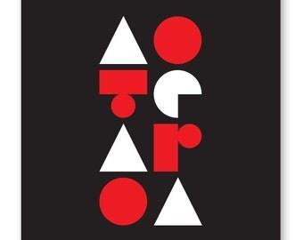 Aotearoa - Red and Black print