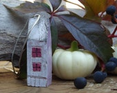 My Little House - OOAK Pendant - Modelling Clay Art Sculpture - Wearable Art - fall fashion