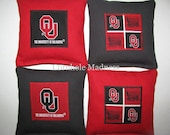 Oklahoma SOONERS Cornhole Corn Toss Bean Bag Baggo Bags Set of 8