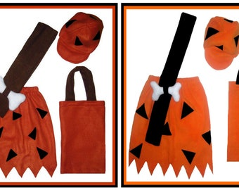 5/6 or 7/8 Flintstones Bam Bam Halloween Costume Set Boutique PAGEANT New