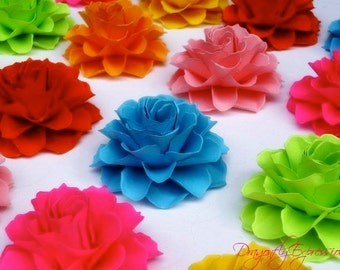The Rosetta Paper Flowers - Custom Colors - Pack of 40 - Made To Order