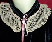 Antique  Victorian Peter Pan Collar with Silk Ribbon