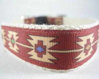 Hemp dog collar - Aztec Style