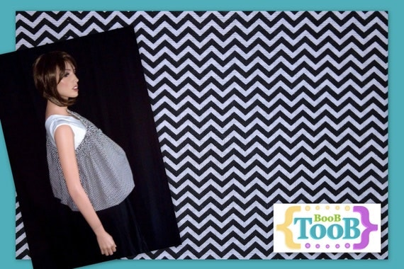 Custom Black and White Chevron Striped BooB TooB for Cara Hawthorne
