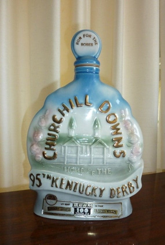 1969 Kentucky Derby Jim Beam Decanter 95th Run for the Roses