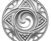 40mm Victorian Swirl Crystal Glass Jewel - Perfect for Stained Glass and Jewelry Projects