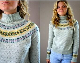 Vintage 80s Nordic Pattern Sweater