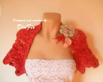 LIQUIDATION Stock SALE 30% OFF Cotton Bolero Shrug Wedding Accessories Crochet Jacket Vest Women Hand Knitted Capelet Cardigan Feminine Gift