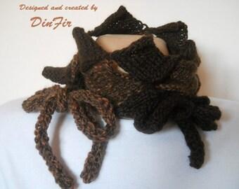 WOMEN NECKWARMER / Accessories Scarves Hand Knitted Gift Ideas Scarf Cowl / Crochet Winter Elegant Warm Romantic Feminine Muffler Handmade