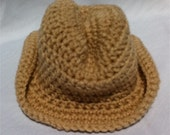 Newborn to 12 months Baby Infant Boy Girl Cowboy Hat Custom Color