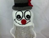 Snowman Earflap Hat OFG team 0 to 3 months