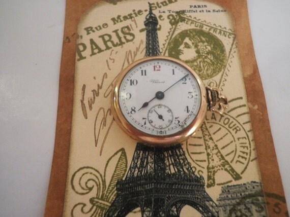 Antique Watch Ladies Pocket Watch Wadsworth Referee Gold Filled Venus Swiss