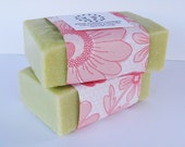 Lotus Flower and Sea Salt Soap with avocado oil and avocado butter, sea salt, face soap