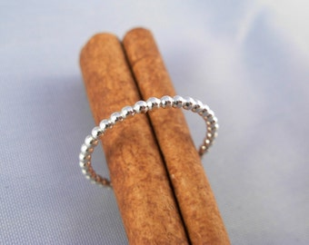 Dots  Sterling   Silver Ring -R802 - ElenadE