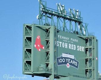 Fenway Park, Boston Red Sox, 100 years, Sports Bar Decor, Sports Fan, Baseball Decor, Boys Room Decor, Sports Decor, Sports Nursery Decor
