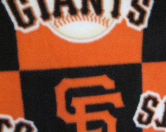 San Francisco Giants Baseball Team Logos in Blocks Fleece Blanket - Ready to Ship Now