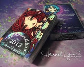 150* Aceos Complete Trading Card Set High Gloss Double Sided Fantasy Trading Cards by Hannah Lynn
