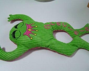 "Princess Bean Bag Frog Personalized 13"" X 10"""