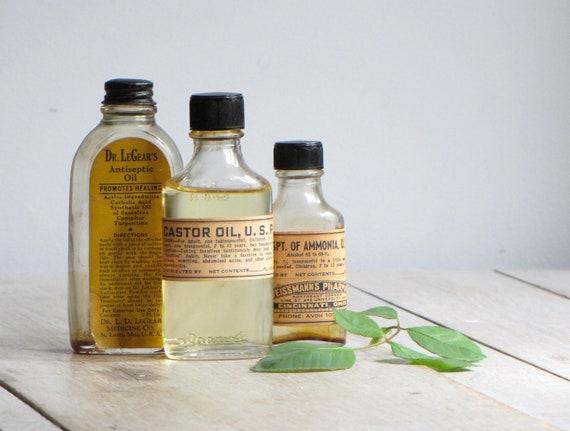 vintage collection of medicine bottles