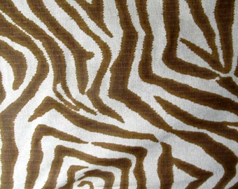 ZEBRA ikat in Brown flax multipurpose home decor fabric