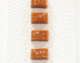 Fleur de Sel Caramels - Wedding Favor Sampler - As Seen in Food & Wine Magazine