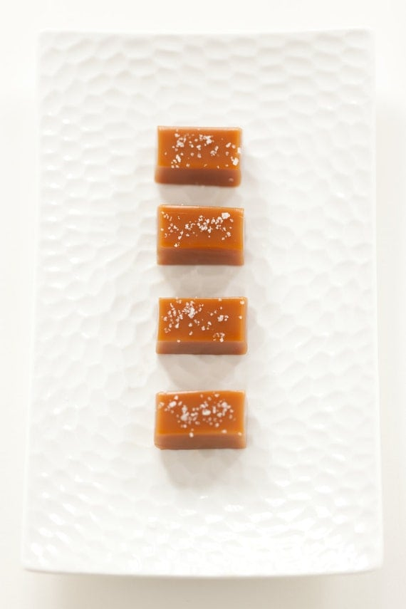 Fleur de Sel Caramels - Wedding Favor Sampler - As Seen in Food & Wine Magazine