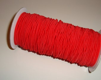 70 Yd Roll Red Elastic Cording 2mm Round Crafting Cord
