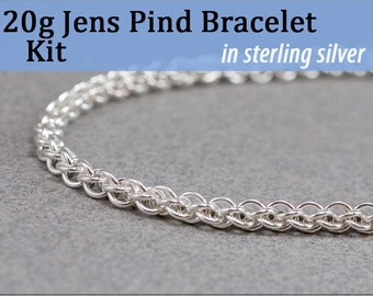 20g Jens Pind Bracelet Chainmaille Kit in Sterling Silver