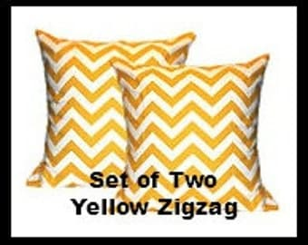Two  Corn Yellow Collection 18 x 18 Pillow Covers  Fabric both sides