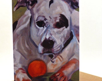 Staffordshire Terrier Portrait Greeting Card