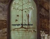 Magnolias and Robins-EPattern-Vintage Decor-Hand Made-Published-Woodworking Patterns-Home and Garden