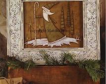 Christmas Pastimes-Christmas Decor-Vintage Decor-Primitive Santa-DIY-Woodworking Patterns