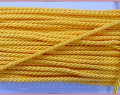 Lemon Yellow Shiny Twist Cord Chain Jewelry String Rope 18 Yards