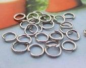 Jump Rings--300 pcs 5x0.7mm Silver metal Jumprings
